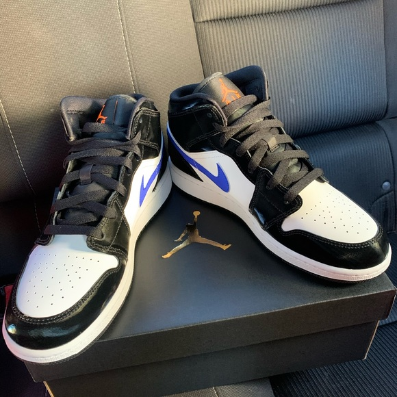 Nike Air Jordan 1 Mid GS Black/Racer Blue Size 7Y